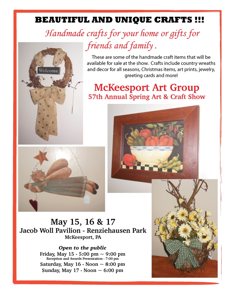 Unique Crafts Available at our Art Show