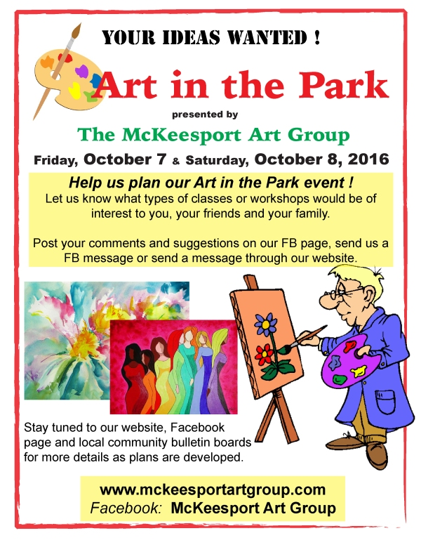 MAG Art in the Park -suggestions