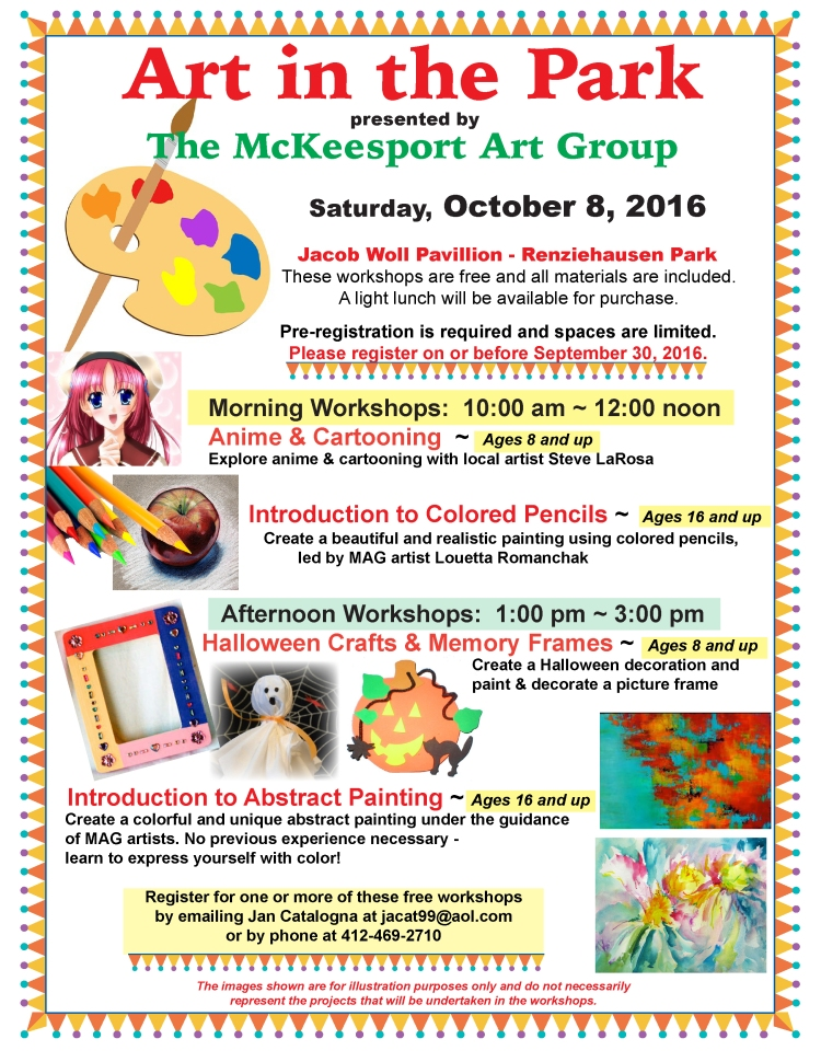 MAG Art in the Park - Oct 8 poster