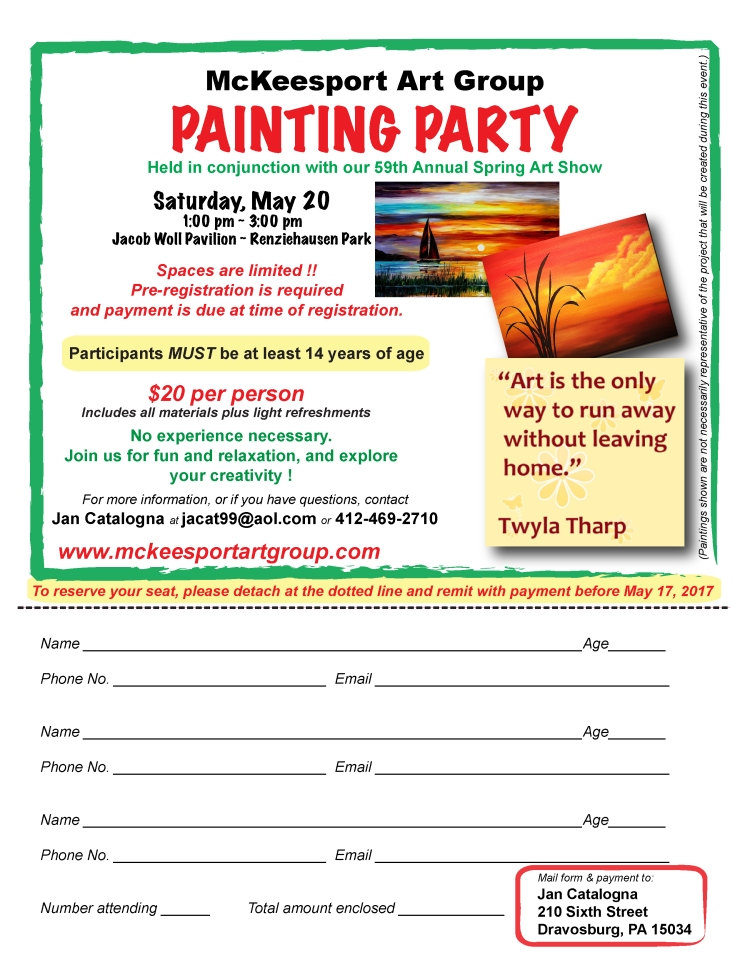 Painting Party flyer